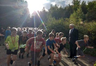 Sponsorenlauf 2018 – Ab in den Wald