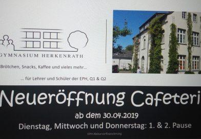 Neueröffnung der Cafeteria!