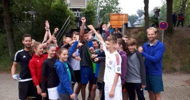 Butterflies – Staffellauf mit gesammelten Spenden nach Aachen